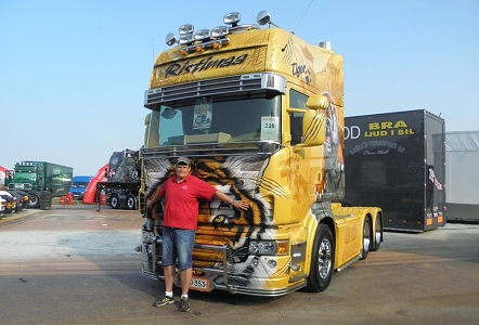 Master Truck Show Opole 2013, Scania Ristimaa Tiger a Pavel Janda